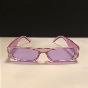 Slim rectangle purple frame. Purple lens